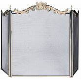 3 Panel Solid Brass Fireplace Screen