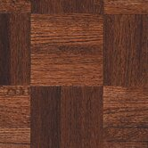 Urethane Parquet 12&quot; x 12&quot; x 5/16&quot; Solid Oak in Cinnabar