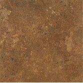 Alterna 16&quot; x 16&quot; Aztec Trail Vinyl Tile in Terracotta