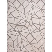 Brio Gray Brown Geometric Rug