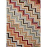 Colours I-O Red/Orange Zigzag Rug