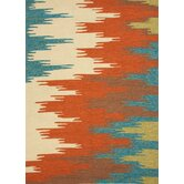 Colours I-O Red/Orange Abstract Rug