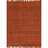 Rugged Red/Orange Solid Rug