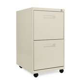 19.75&quot; Two-Drawer Mobile Pedestal File