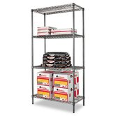 36&quot; W x 18&quot; D Industrial Wire Shelving Starter Kit in Black
