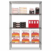 "48"" W x 18"" D Industrial Wire Shelving Starter Kit in Black"