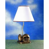 Table Lamp in Distressed Bronze