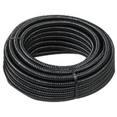 1.5&quot; x 600&quot; Reinforced Black Corrugated Tubing