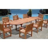 Vista 9 Piece Dining Set
