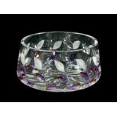 Lavender Leaf Crystal Bowl