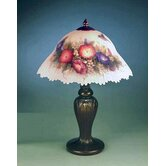 Glynda Turley Hummingbird and Flower  Table Lamp in Antique Brass