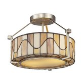 Sandfield 2 Light Semi-Flush Mount