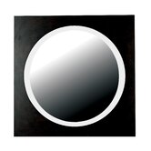 Eclipse Wall Mirror in Brushed Silver