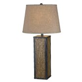 Bligh One Light Table Lamp in Wood Grain