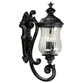 Troubadour  High Outlet Medium Wall Lantern in Ebony Pearl