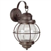 Hatteras  Medium Wall Lantern in Gilded Copper