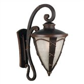 Ribbon and Reed  Outdoor Large Wall Lantern in Caramel Malt