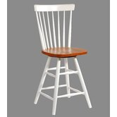 "Copenhagen 24"" Spindleback Swivel Counter Stool in Heritage Pearl and Oak"