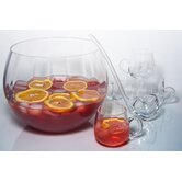 "Simplicity 8"" 8 Piece Optic Punch Bowl Set"