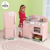 Pink Retro Kitchen & Refrigerator