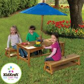 Kids' 3 Piece Table and Bench Set