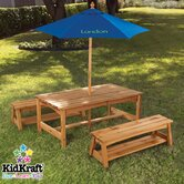 Personalized Kids' 3 Piece Table and Bench Set