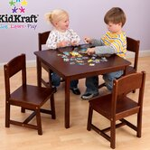 Farmhouse Kids' 5 Piece Table and Chair Set