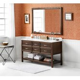 "Newcastle 60"" Wood Vanity Set"