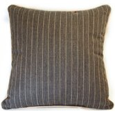 Grey Pinstripe Throw Pillow