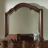 Heritage Manor Landscape Mirror in Meritage Cherry