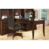 Kennett Square Table Peninsula Desk in Dark Chocolate