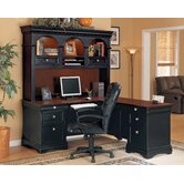 Marlowe Right Computer L-Shape Desk with Hutch