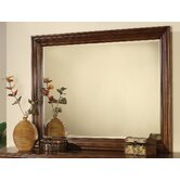 Brendon Landscape Mirror in Hazelnut/Cabernet