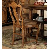 Santiago Wood Back Counter Stool in Old World Pine