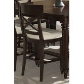 Tuxedo Park Gathering Stool in Dark Chocolate