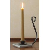Colonial Iron and Wood Candle Dish