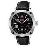 Outback Watch with Black and White Dial, Black Strap