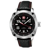 Outback Military Wrist Watch with Black and Red Dial