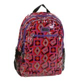 Cool Backpack Coated in Tic Tac Toe Berry