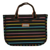 Small Neoprene Laptop Sleeve in Pencil Stripes Tropical