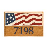 Stars and Stripes Wall Address Plaque