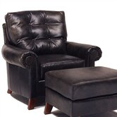 Alexis Leather Chair and Ottoman