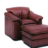 Denver Leather Chair and Ottoman