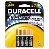 Ultra Power Alkaline Batteries with Duralock Power Preserve Technology, Aaa, 4/Pack