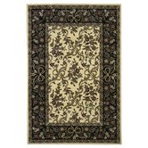 Cambridge Ivory/Black Floral Ribbons Rug