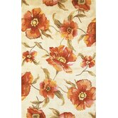 Catalina Ivory Poppies Rug