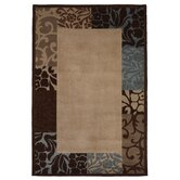 Chateau Damask Border Rug