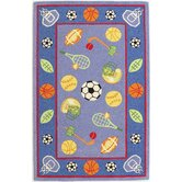 Kidding Around Let's Play Ball Kids Rug