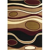Moda Black/Red Orbit Rug
