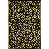 Corinthian Black Vine Brocade Rug